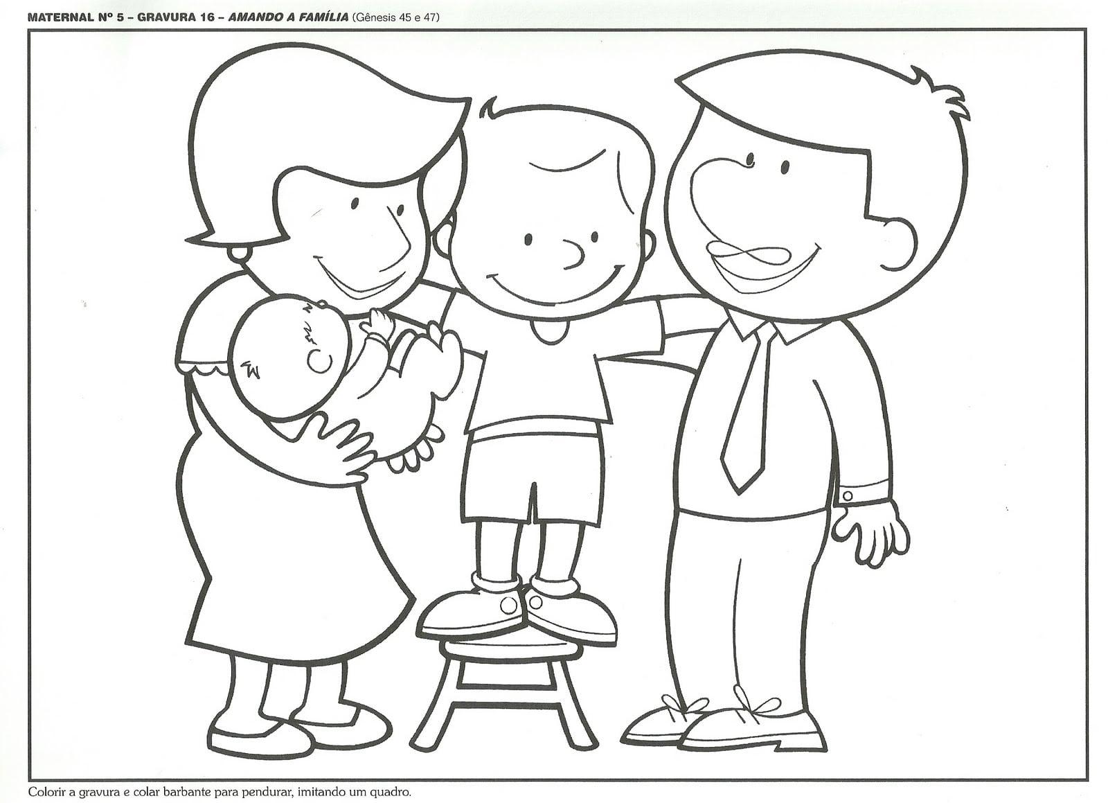 Desenho De Familia Para Colorir
