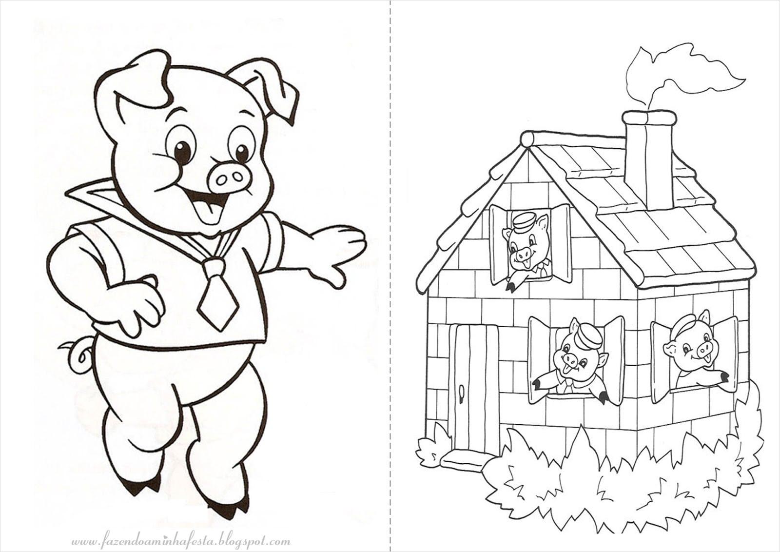 Desenho Para Colorir Porquinho