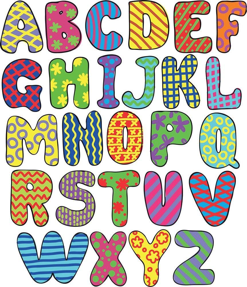 Cuadro De Abecedario Para Niños, Letras De Arte Infantil
