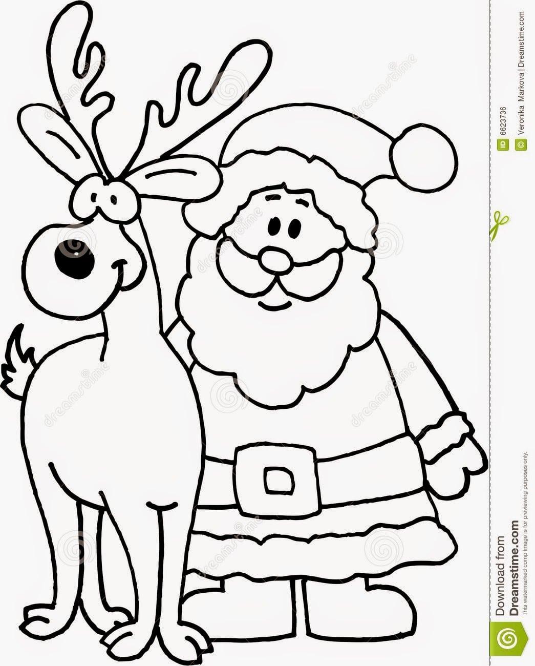 Papai Noel Para Colorir E Imprimir