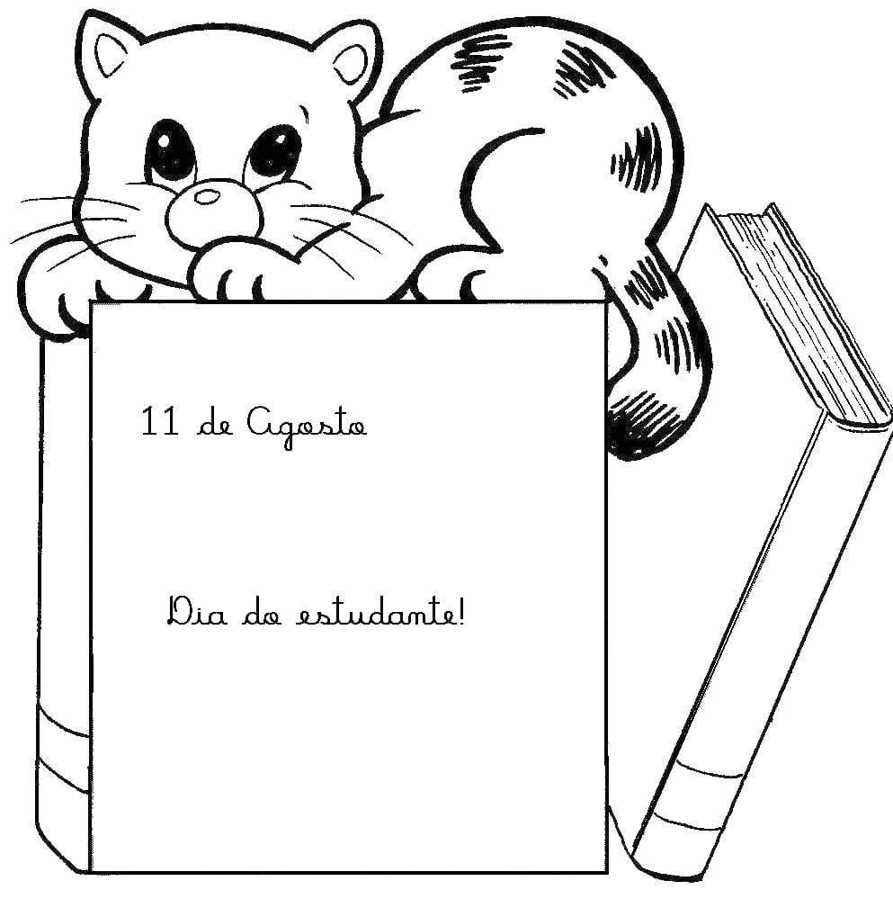 Desenho De Gato Pedreiro Para Colorir