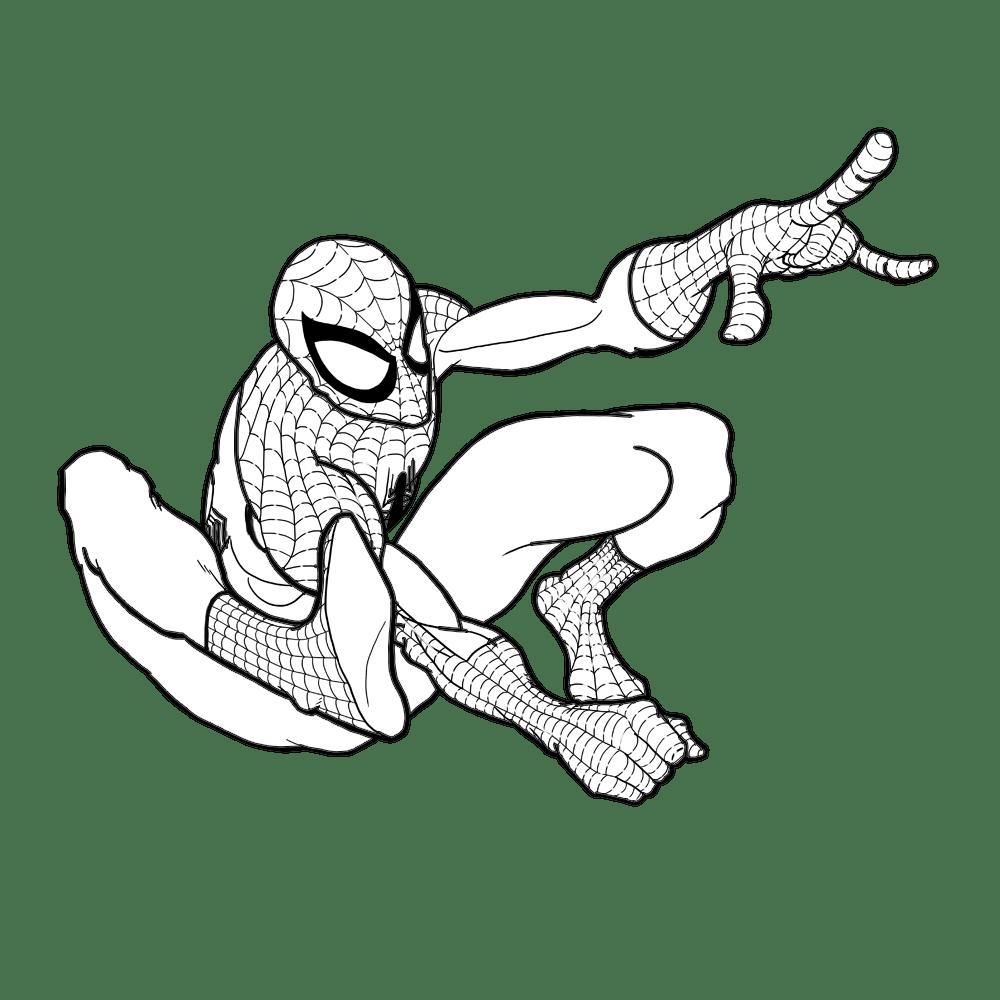 Homem Aranha Para Colorir E Pintar 12