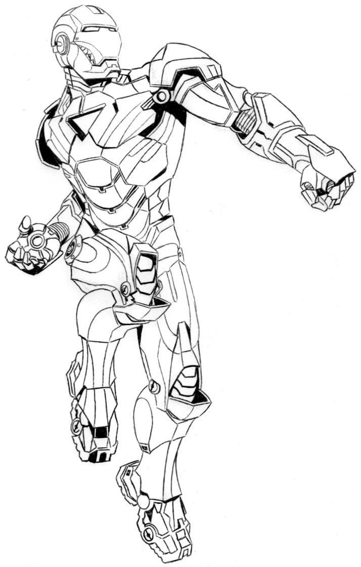 Homem De Ferro Para Colorir E Imprimir