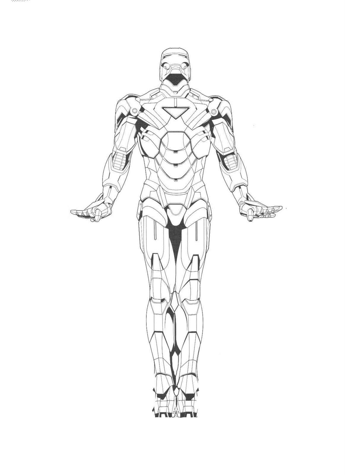 Desenhos Do Homem De Ferro Para Imprimir