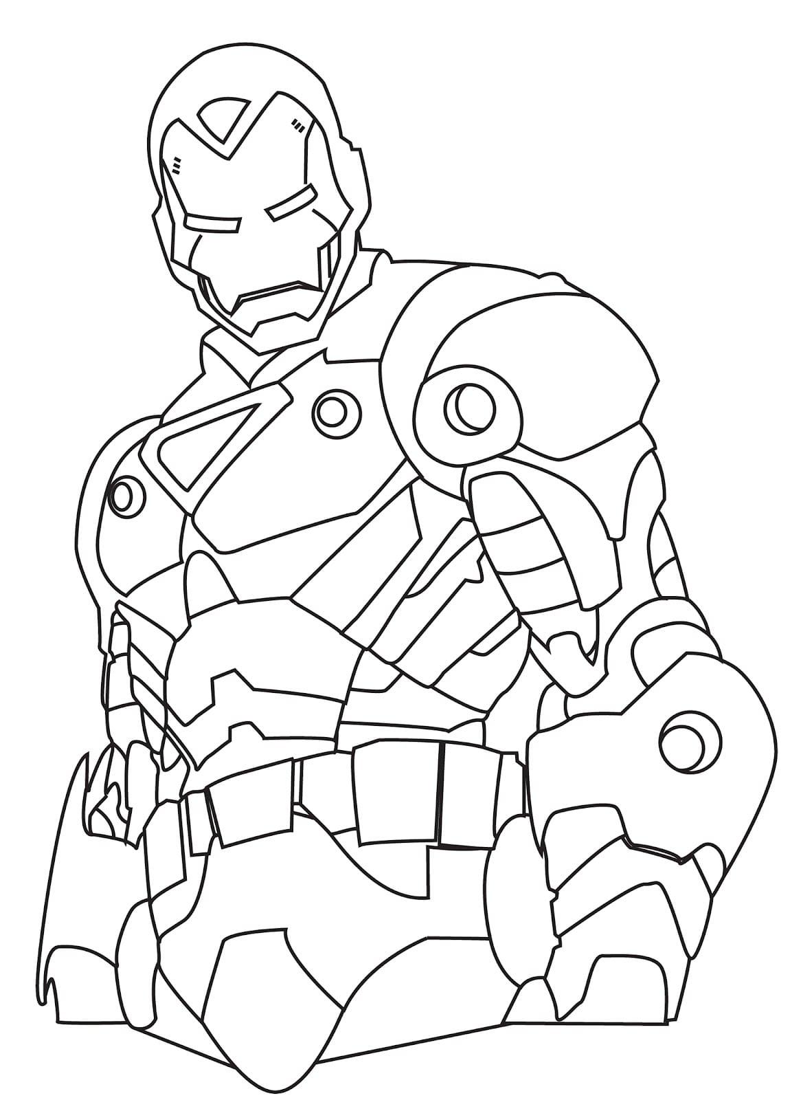 Desenho Do Homem De Ferro Para Colorir ~ Imagens Para Colorir