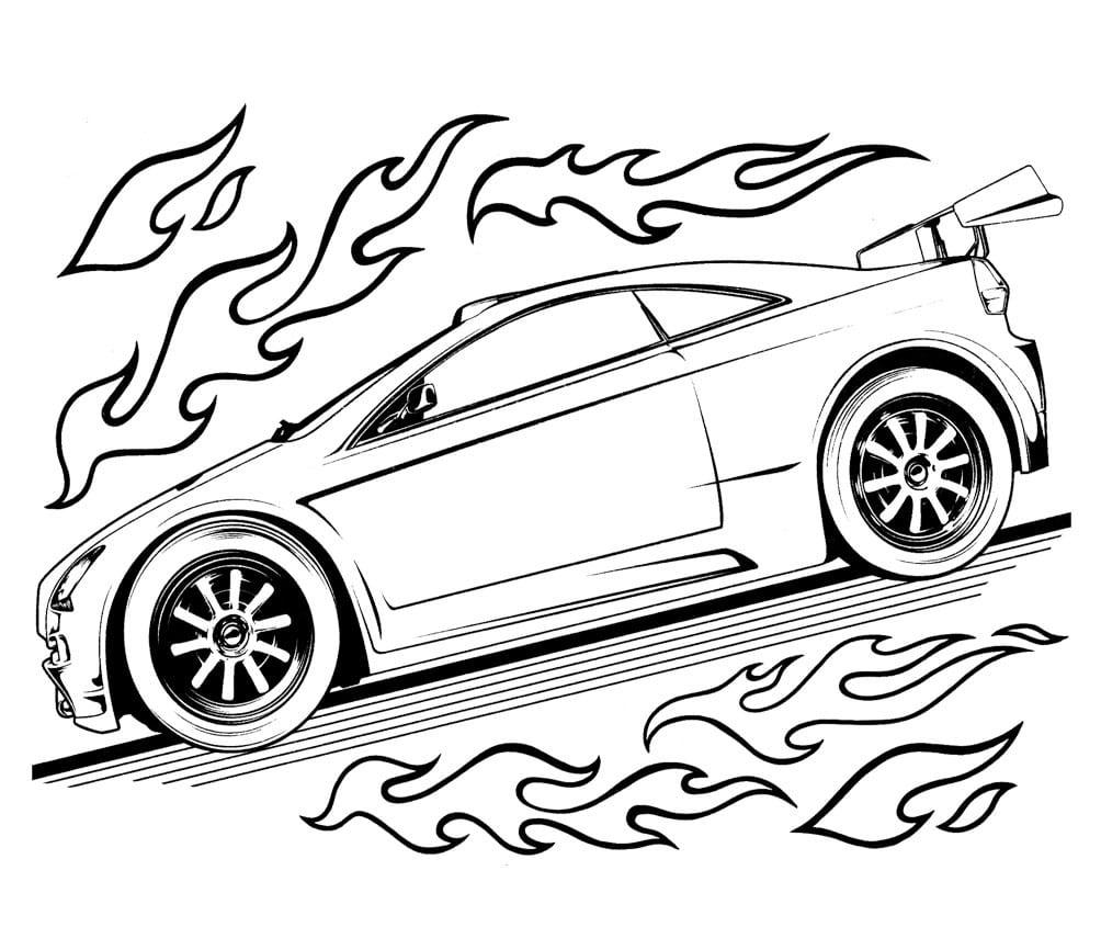 Desenhos Para Colorir E Imprimir  Desenhos Para Colorir Hot Wheels