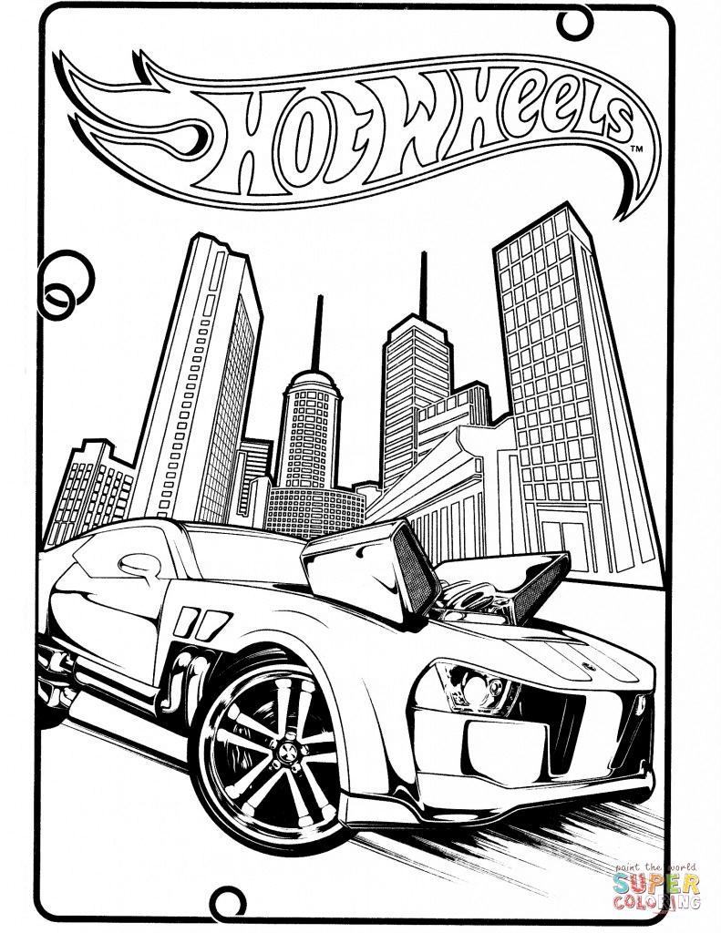 Desenho De Hot Wheels Pontiac G8 Para Colorir
