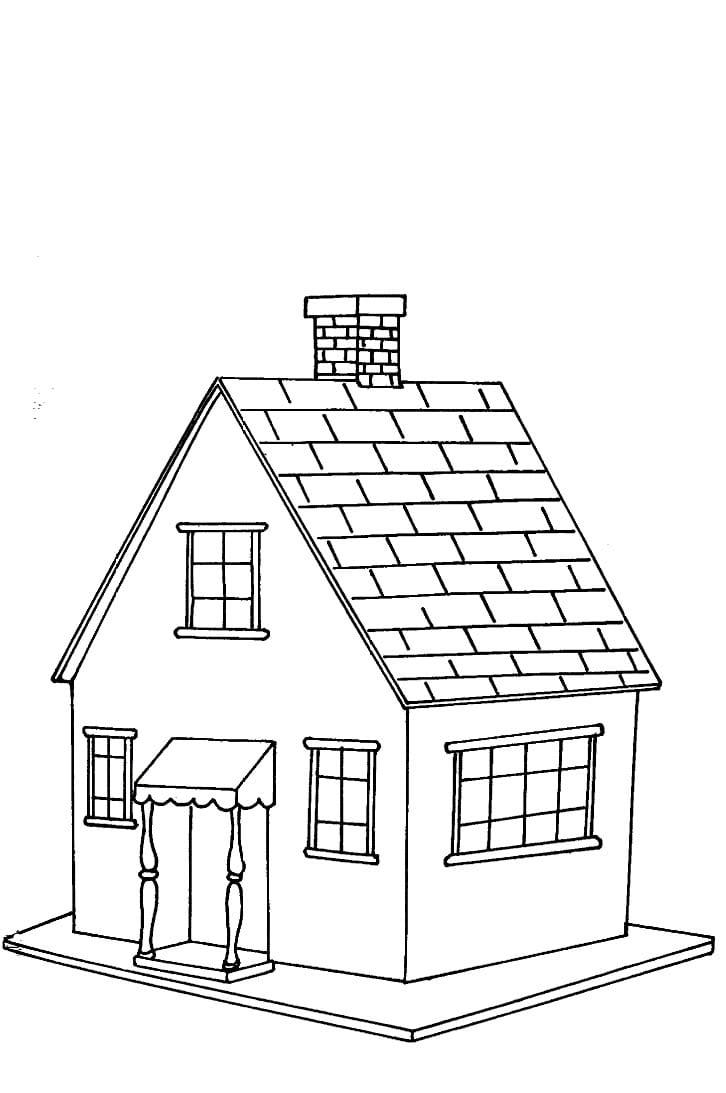 Desenhos De Casas Para Colorir E Imprimir