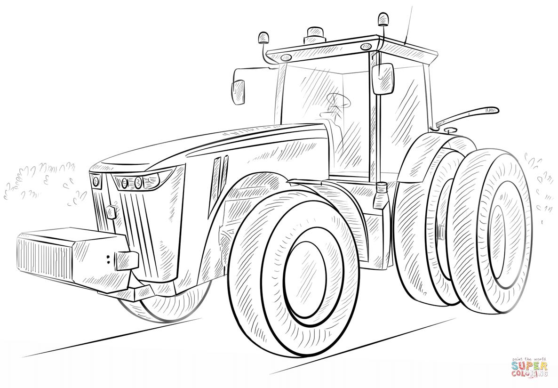 Desenho De Trator John Deere Para Colorir
