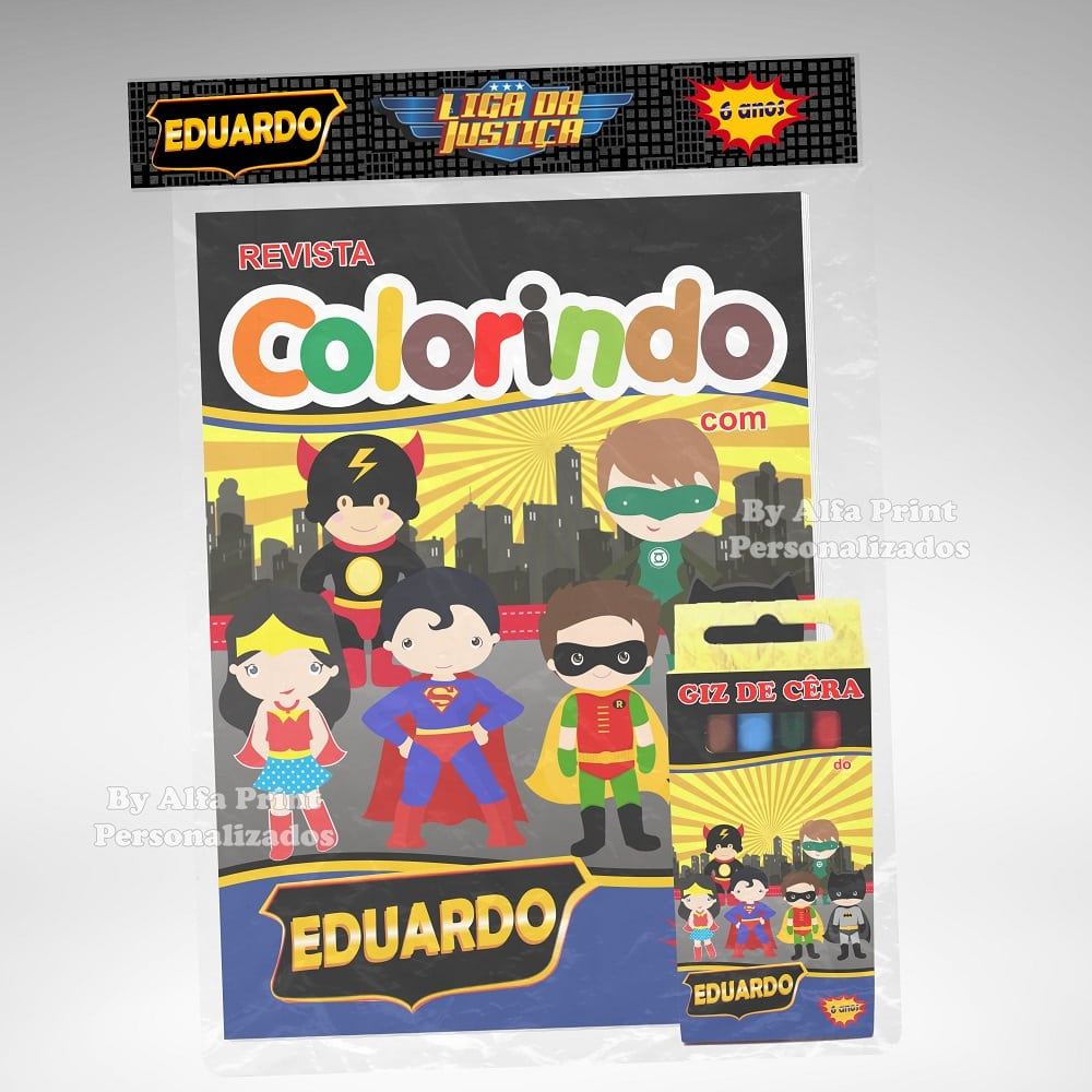 Kit Colorir Liga Da Justiça Cute +brinde