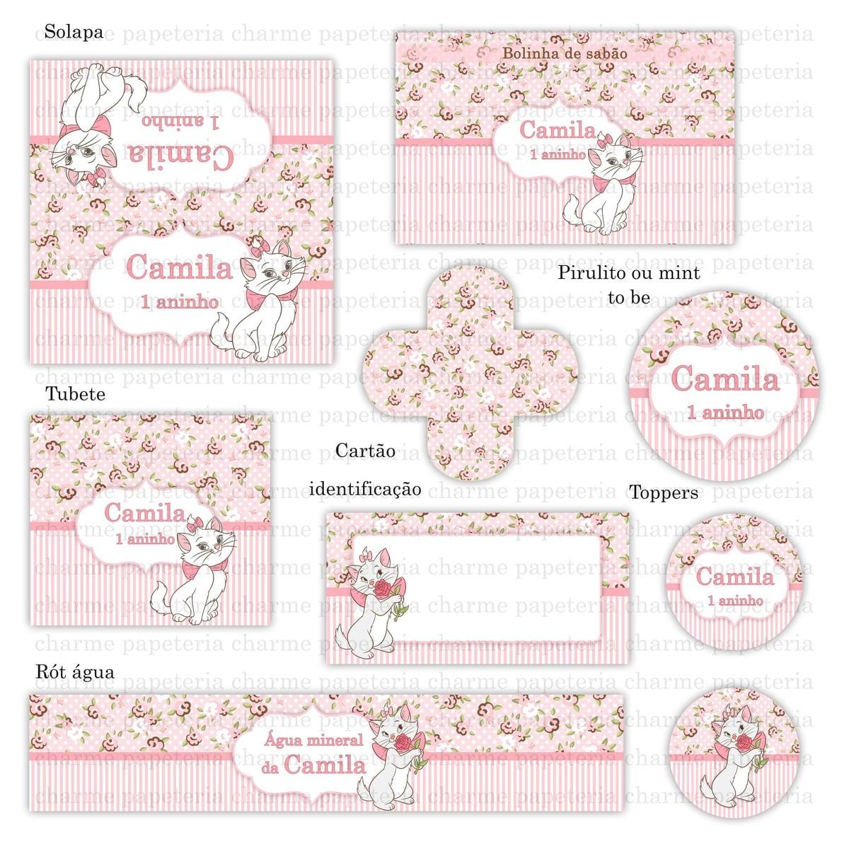 Kit Para Imprimir Gatinha Marie