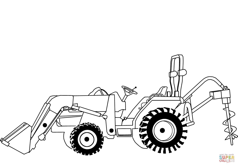 Desenho De Carregando Uma Escavadeira Para Colorir