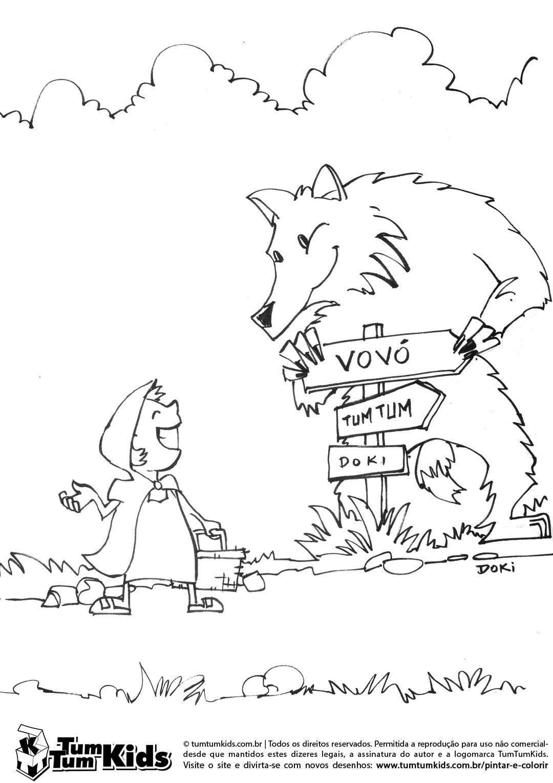 Desenho Do Lobo Mau Para Colorir