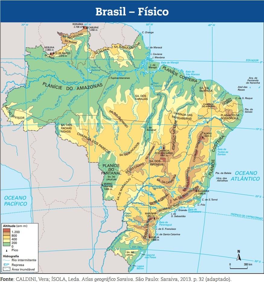 Mapa Físico Do Brasil – Nerd Professor