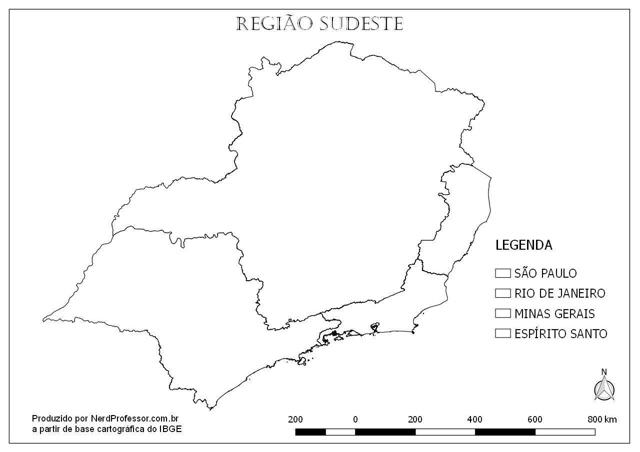 Mapa Região Sudeste Para Colorir – Nerd Professor