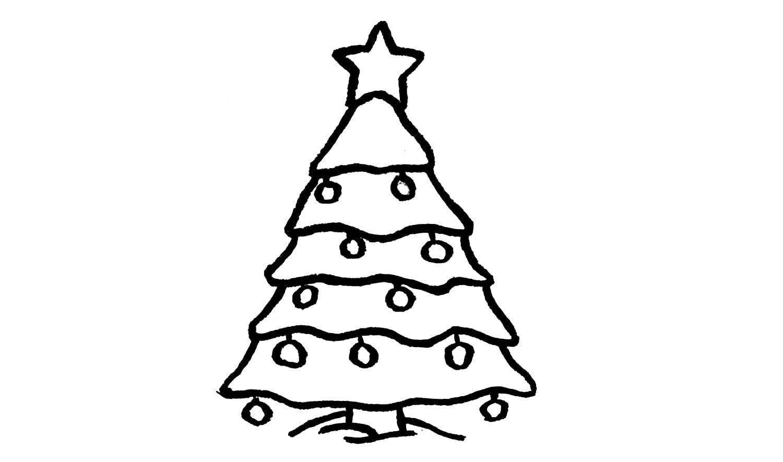Como Desenhar Uma Árvore De Natal (enfeite)