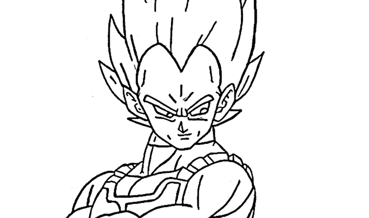 How To Draw Vegeta From Dragon Ball Z