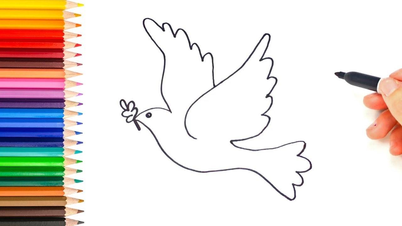 Como Desenhar Uma Pomba Da Paz