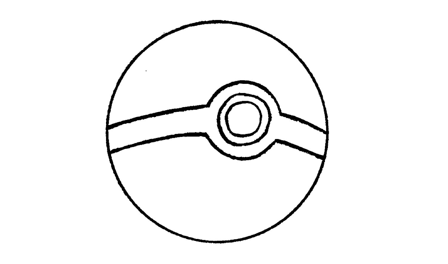 How To Draw A Pokeball From Pokémon (easy)