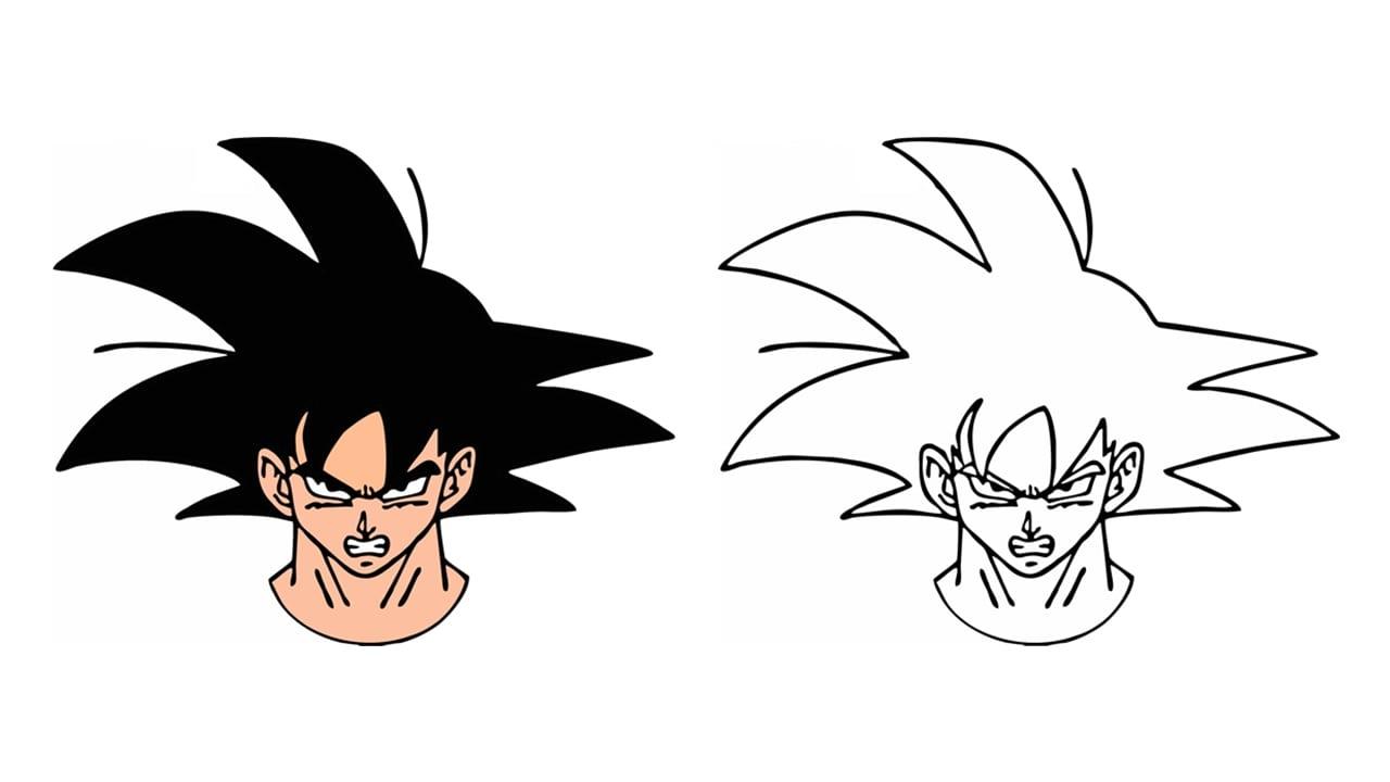 Comment Dessiner Goku De Dragon Ball Z (personnage)