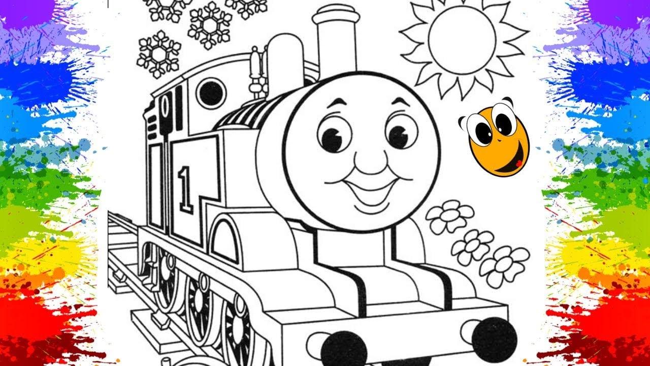 Como Pintar E Colorir Trem Thomas E Seus Amigos Criançinhas