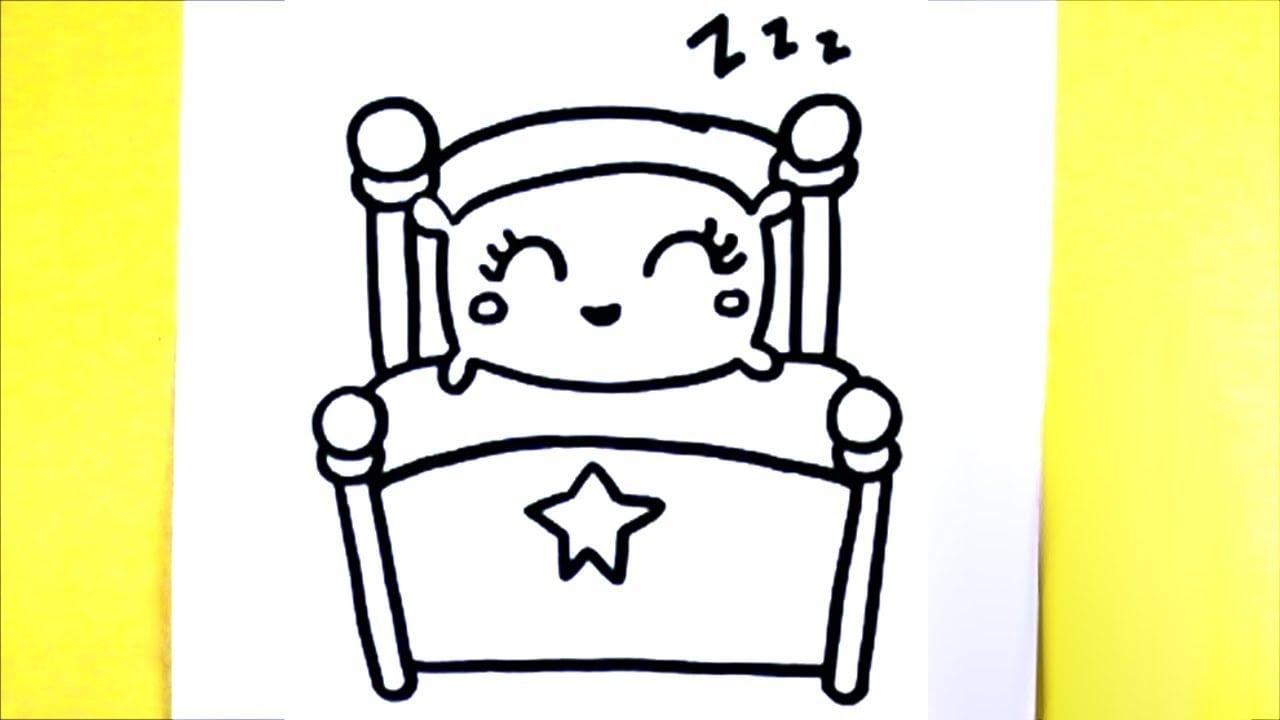 Como Desenhar Cama Kawaii