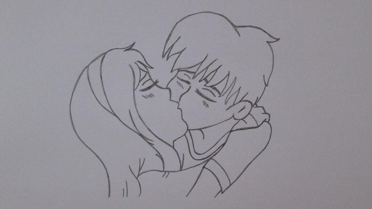 Como Desenhar Um Garoto E Uma Garota Se Beijando