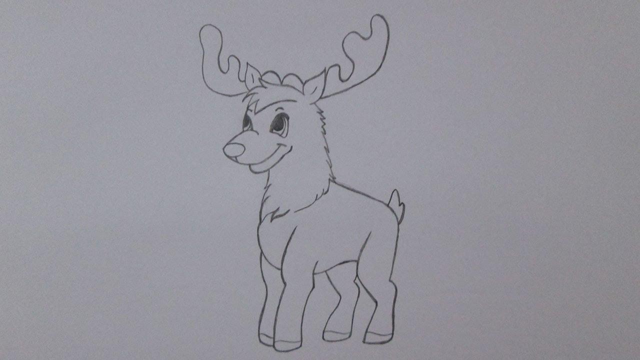 Como Desenhar Uma Rena Do Natal