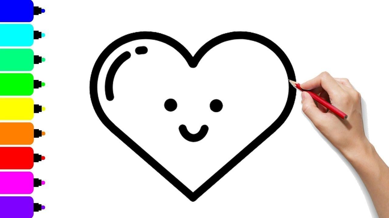 Como Desenhar E Colorir O Coração Emoji