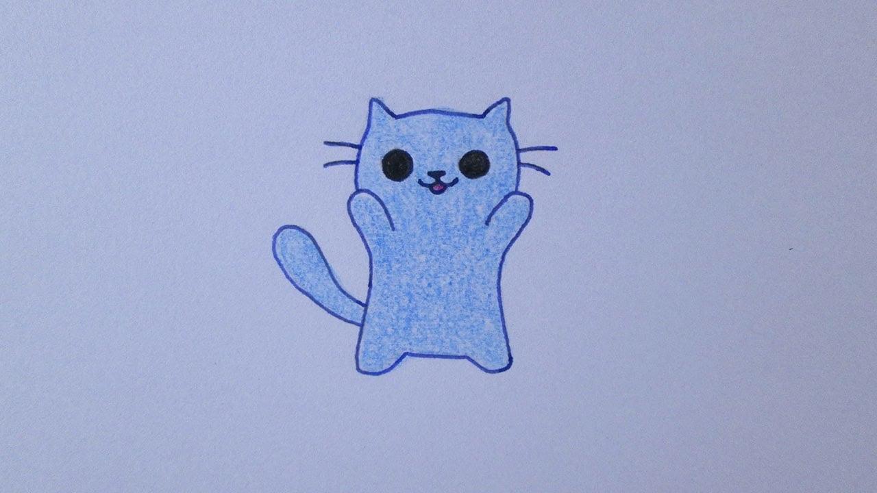 Como Desenhar Um Gatinho Fofo