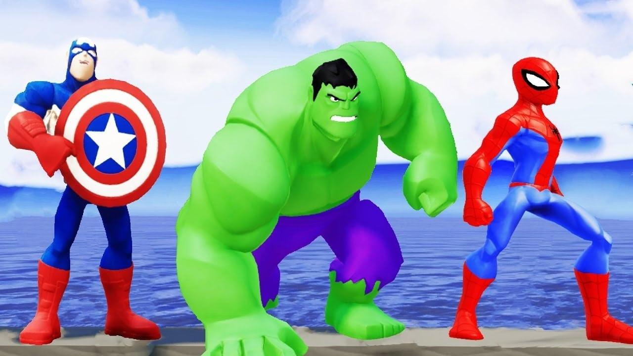 Homem Aranha Desenho Animado Em Portugues Vs Hulk Capitão América