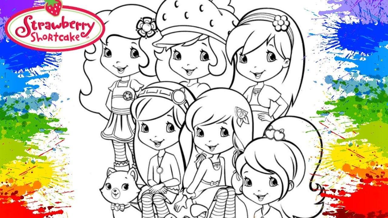 Kids Colouring Online Classes Cor Desenho Da Turma Da Moranguinho