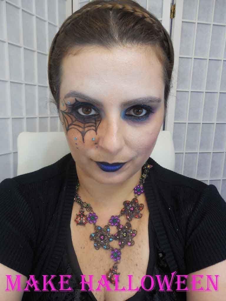 Tutorial De Maquiagem Halloween  Teia De Aranha