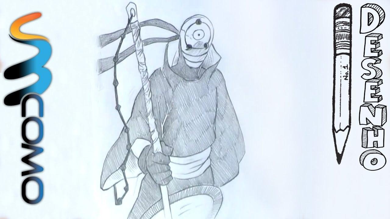 Desenhando Tobi Passo A Passo De Naruto Shippuden