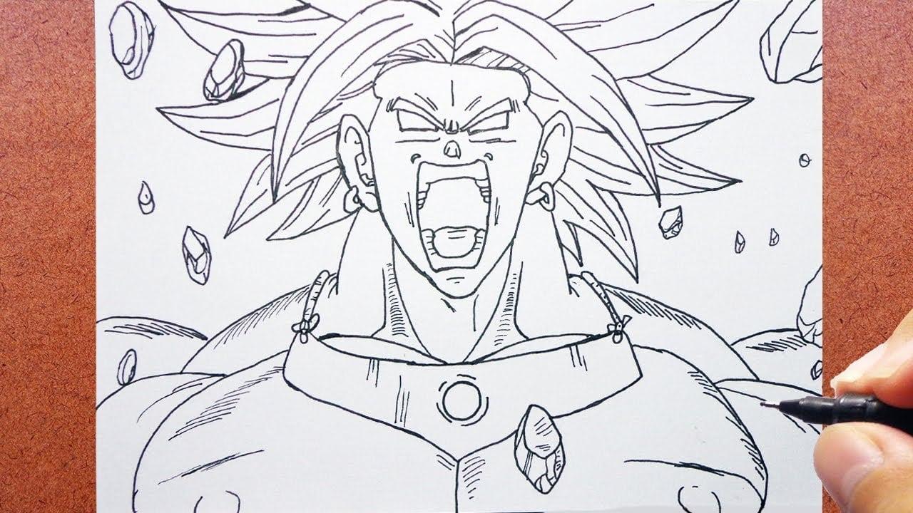 Desenho De Saiyan Para Colorir: Como Desenhar Broly O Lendário Super Saiyajin [dragon