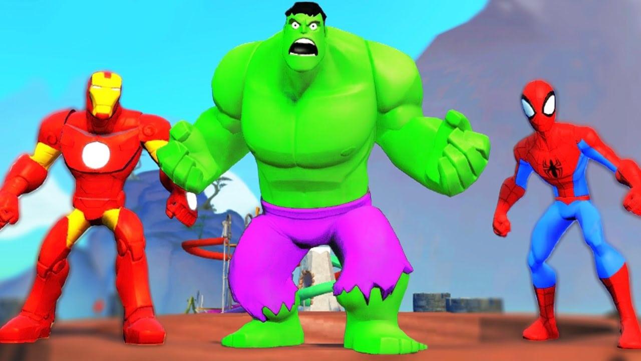 Homem Aranha Desenho Animado Em Portugues Vs Hulk, Homem De Ferro
