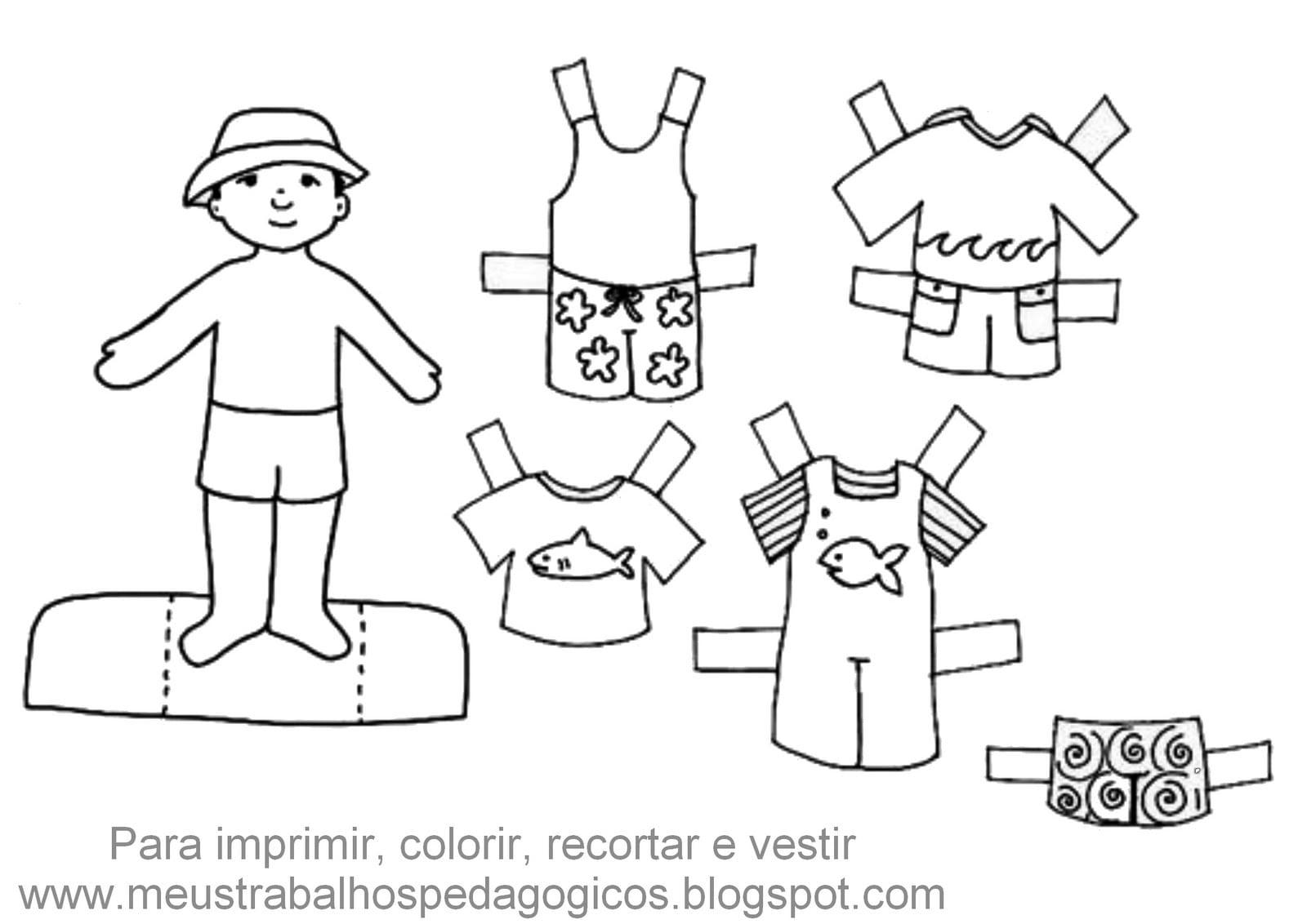 Bonecos Para Colorir