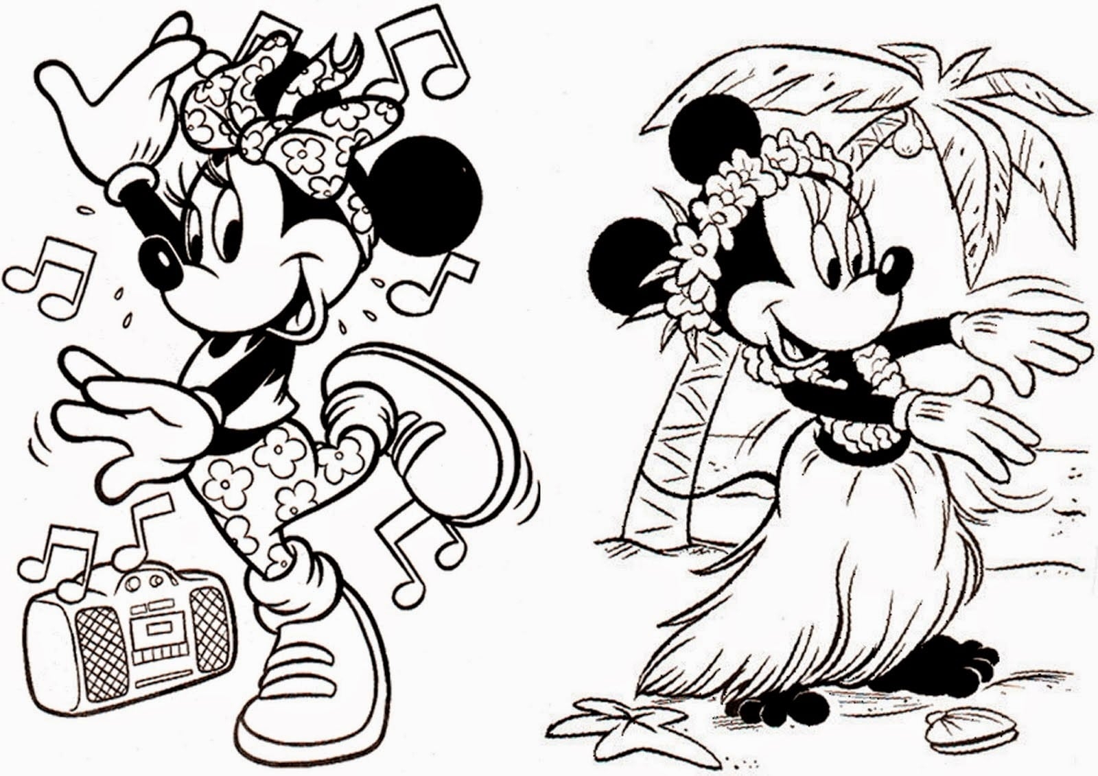 Mickey E Minnie Para Colorir E Imprimir