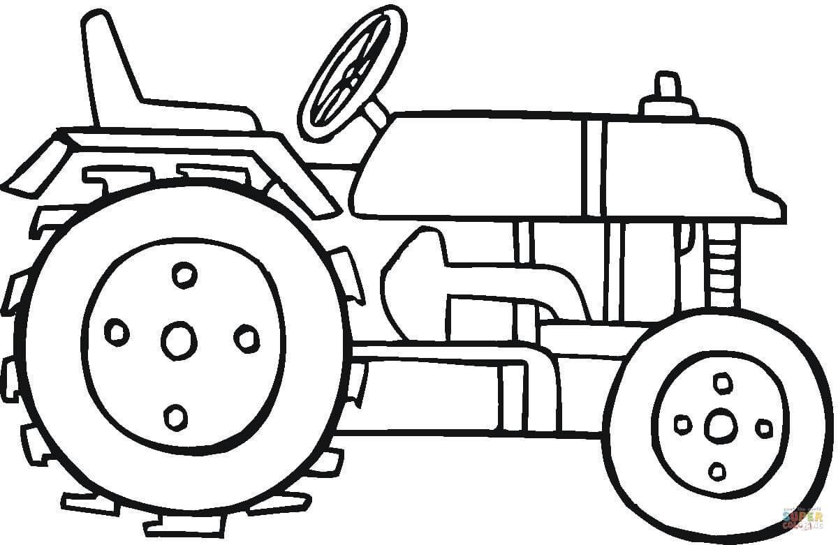 Desenho De Trator Moderno Para Colorir