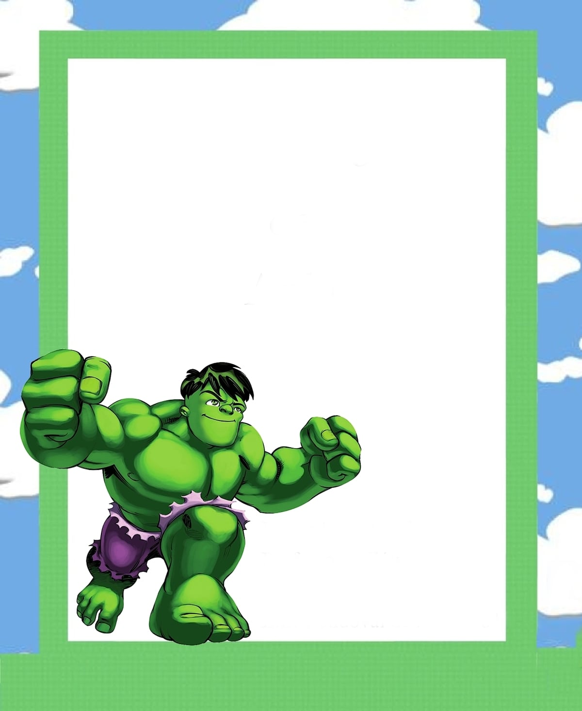 ♡ Point Das Fofurices ♡  Moldura E Desenho Do Hulk