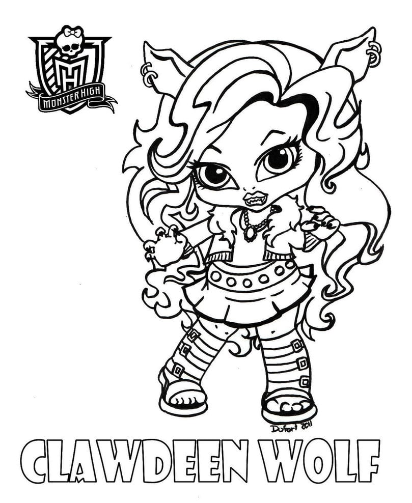 Desenhos Para Colorir Da Monster High Baby