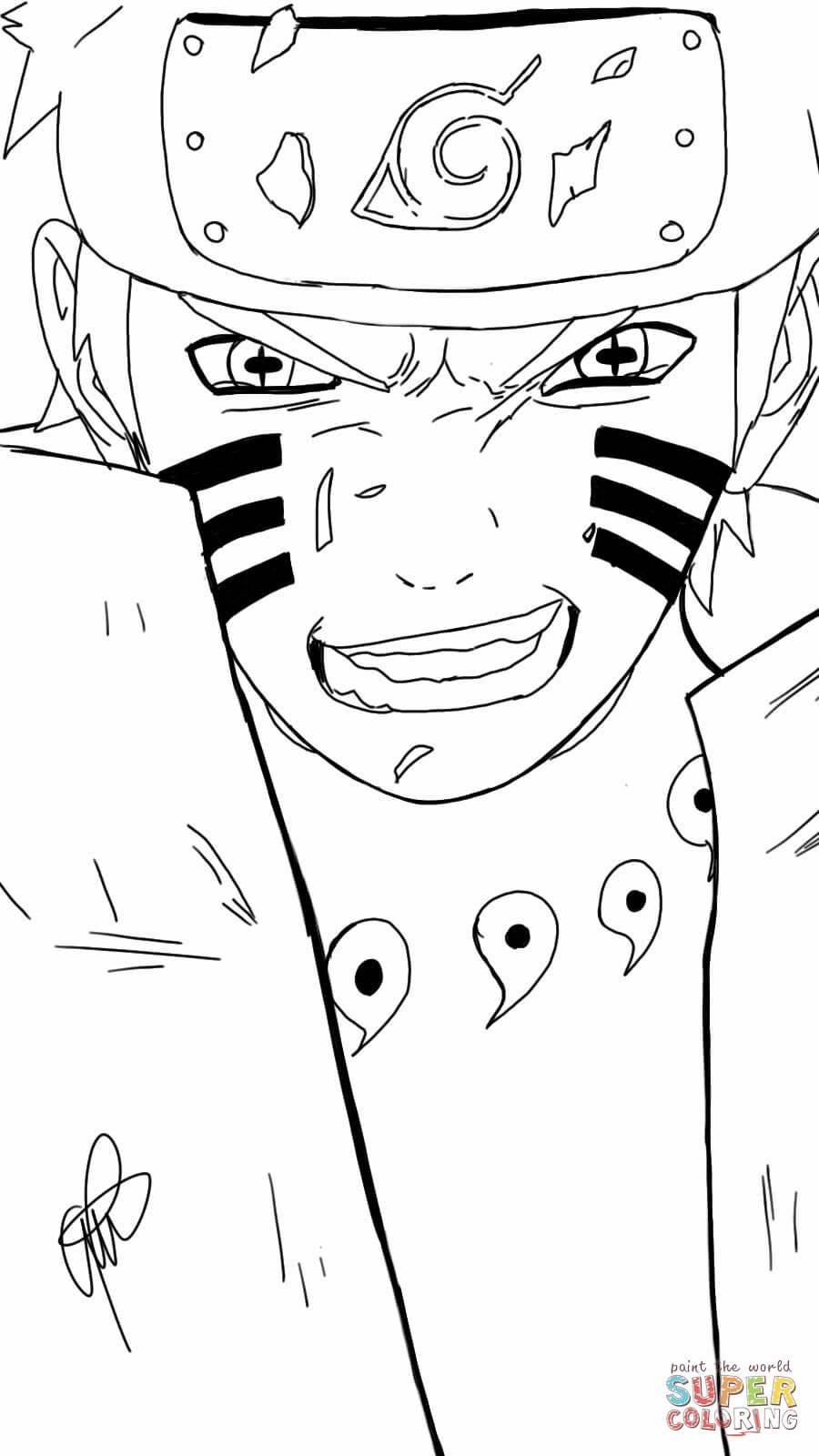 desenhos para colorir do naruto e sasuke