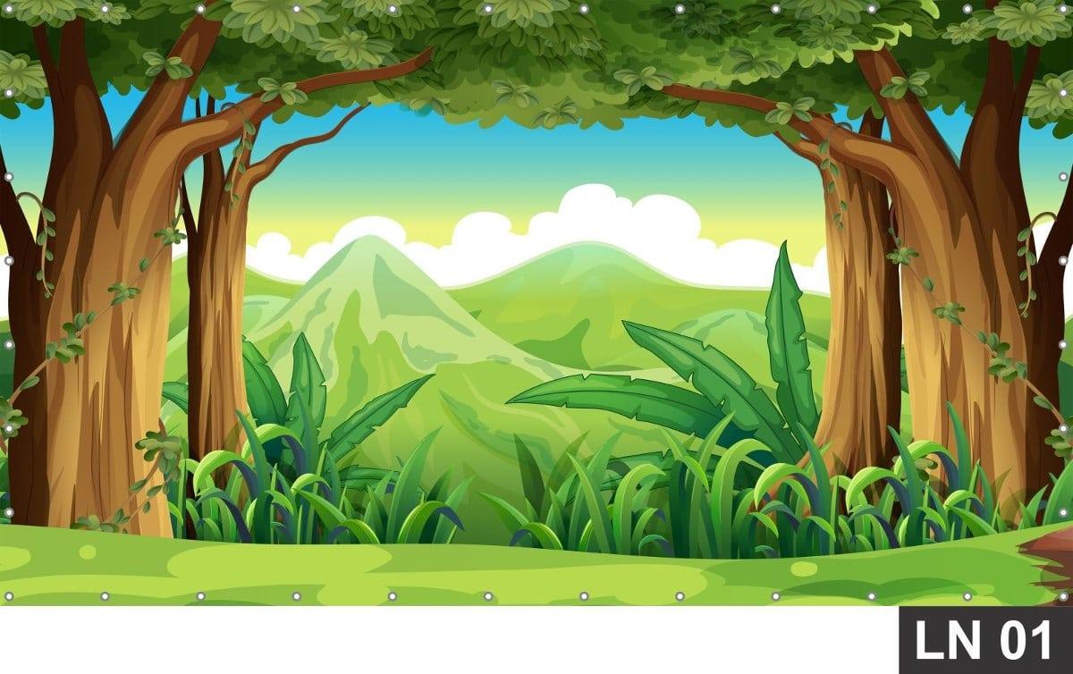 Papel De Parede Adesivo Floresta Encantada 6,00x2,20m