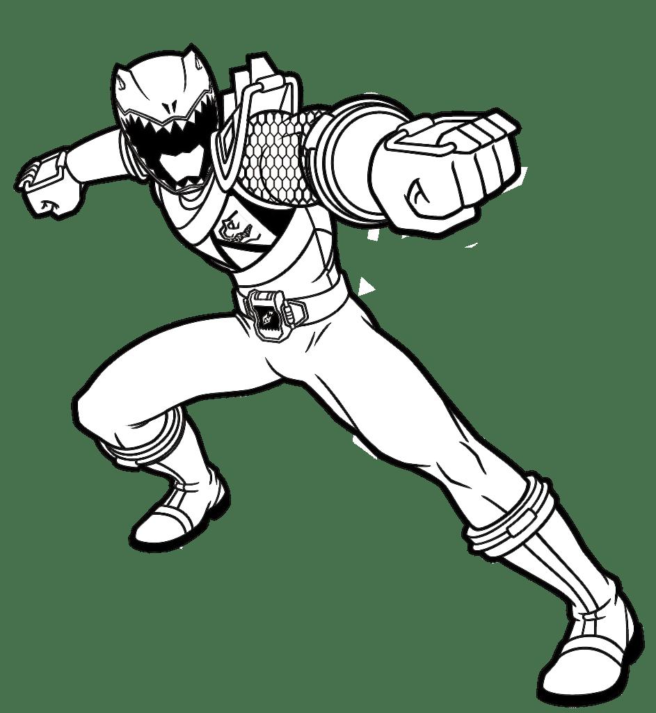 Jogo Pintar Power Ranger Vermelho