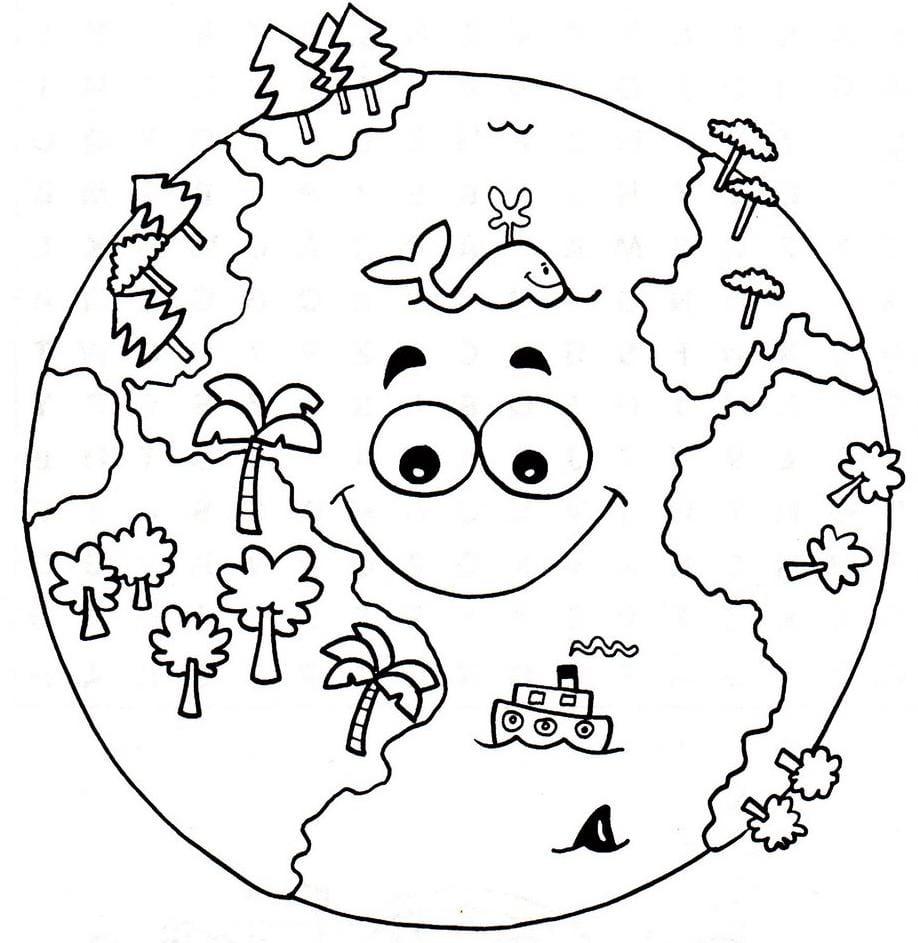 Planeta Terra Para Pintar