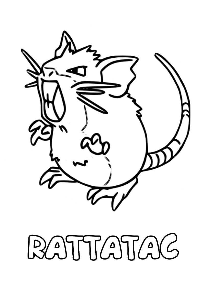 Dibujo Para Imprimir Y Colorear De Rattatac Raticate