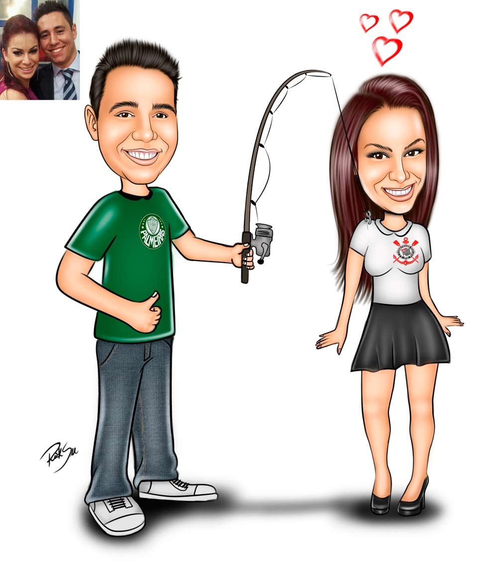 Caricaturas Digitais, Desenhos Animados, Ilustração, Caricatura