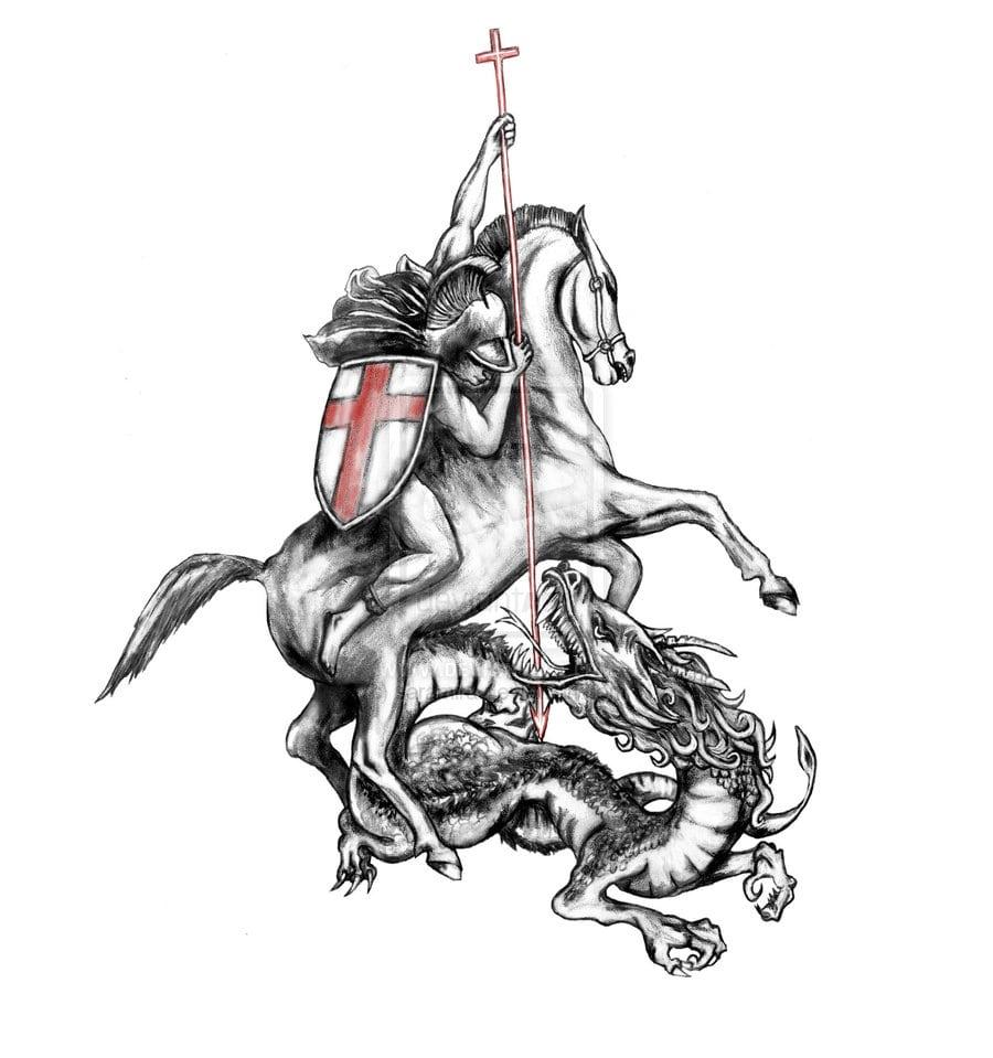 Griffe Tattoo  Coletânea São Jorge Guerreiro