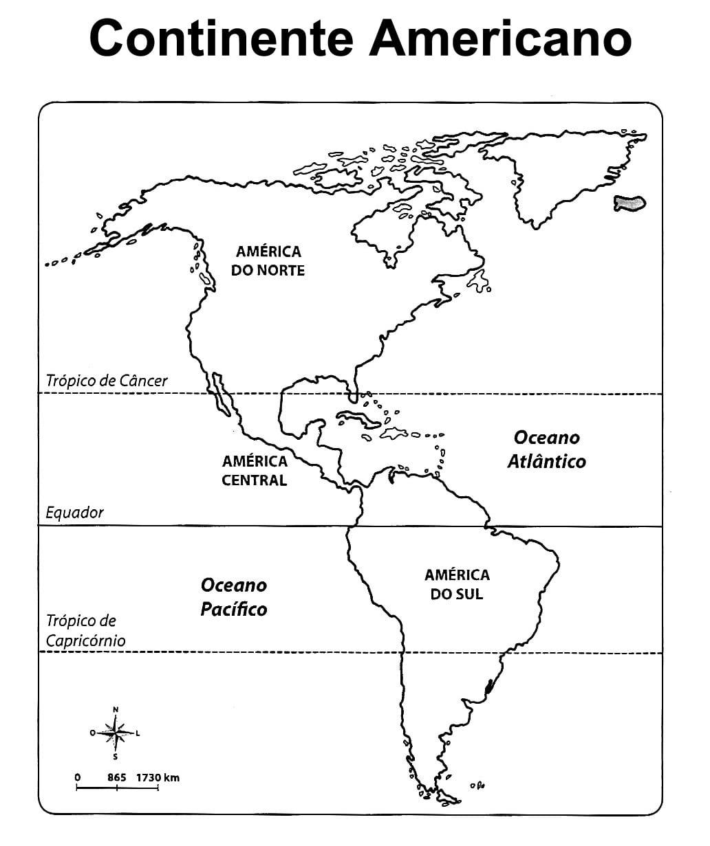 Mapa Dos Continentes Para Colorir