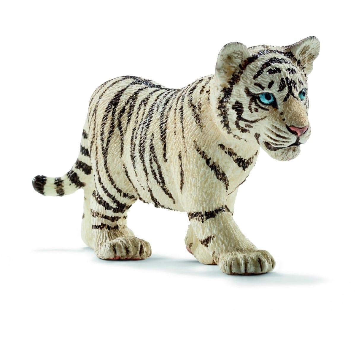 Schleich Réplica De Figura De Tigre Blanco Bebé, Color Blan1